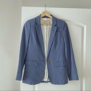 Banana Republic Coastal Blue Silk Linen Blazer 2